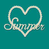 Carte d'amour de l'été — Photo