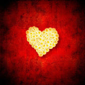 Heart love red background — Photo