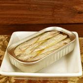 Lata de sardinha em azeite — Fotografia Stock