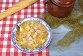 Marmite or marmitako stewe potatoes and  albacore — Stock Photo