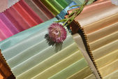 Swatches of fabrics for house decoration — Stock Photo
