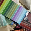 Swatches of fabrics for decoration — Stock Photo #50651765