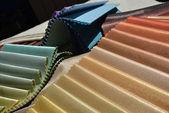 Échantillons de tissus pour la décoration de la maison — Photo