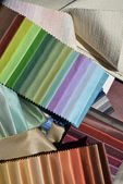 Swatches of fabrics for decoration — Stock Photo
