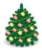 Decorations2 ile vektör köknar ağacı — Stok Vektör