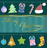 праздник фон с рожденственский орнамент — Cтоковый вектор
