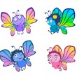 Royalty-Free Stock Vector Image: Four funny butterflies