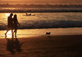 Couple on sunset — Stock Photo