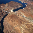 Stock Photo: Aerial view of Hoover Dam