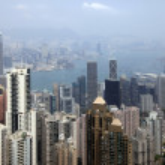 Hong Kong Skyline from Victoria Peak — Stock Photo