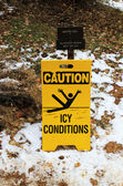 Caution ice conditions — Stock Photo