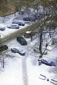 Calle de invierno cubierto de nieve — Foto de Stock