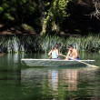 Couple in boat - Stock Photo