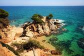 Típico paisaje de la costa brava — Foto de Stock