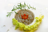 Lentil with a tomato — Stock Photo