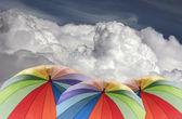 Rainbow umbrella — Stock Photo