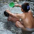 Bathing of the kid — Stock Photo