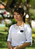 TV reporter — Stock Photo