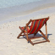 Chaise lounge on a beach — Stock Photo #22607465