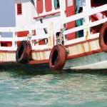 Drifting boat — Stock Photo