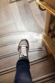 Marmor Leiter und Bein — Stockfoto