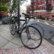 Bicycles parked in the street New York — Stock Photo