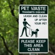Pet Waste Sign at the Park — Stock Photo