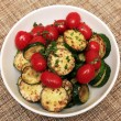 Fried zucchini and tomatoes — Stock Photo