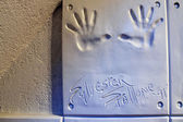 Handprints of Sylvester Stallone — Stock Photo
