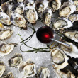Opened oysters on ice — Stock Photo #39335729