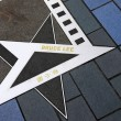 Bruce Lee star at the Avenue of Stars — Stock Photo
