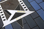 Bruce Lee star at the Avenue of Stars — Photo