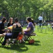 Stock Photo: People enjoying nice day in Bryant Park