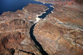 Aerial view of Hoover Dam — Stock Photo