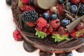 Pie with fruit — Stock Photo