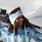 Skier girl — Stock Photo #6186133