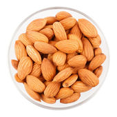 Bowl With Almonds, Top View — Stock Photo
