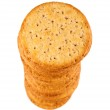 Stack Of Crackers Closeup — Stock Photo #46664045