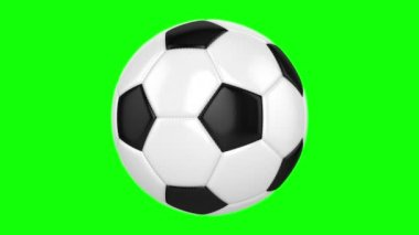 Soccer Ball On A Green Background — Stock Video