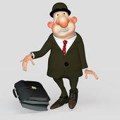 Gentleman bureaucrat, clerk, scared loser. — Stockfoto