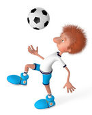 The football player on training — Stockfoto