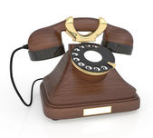 3d Retro phone. — Stock Photo