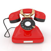 3d 复古电话. — 图库照片