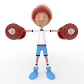 3d boy athlete. — Foto de Stock