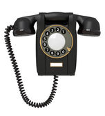 3 d の黒電話. — ストック写真