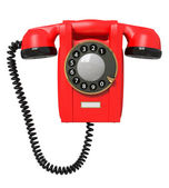 3d red phone. — Stock Photo