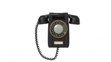 3d black phone. — Stock Video