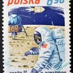 POLAND - CIRCA 1979: A stamp printed in Poland shows Neil Armstrong and Apollo 11, circa 1979 — Stock Photo #11844541