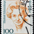 Stock Photo: GERMANY- CIRC1994: stamp printed in Germany shows Elisabeth Schwarzhaupt, politician, circ1994.