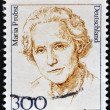 Stock Photo: GERMANY - CIRC1987: stamp printed in Germany shows portrait of MariProbst, politician, circ1987